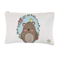 .little king bear. blue bolsa