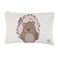 .little king bear. pink bolsa