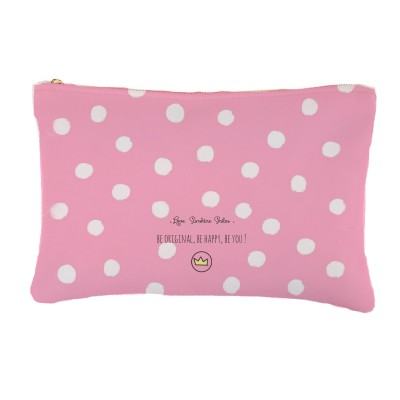 .dots, dots & dots white on pink. bolsa