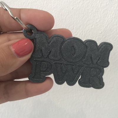.MOM PWR. Galaxy porta-chaves