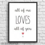 .all of me. white poster