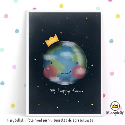 .earth is my happy place. poster