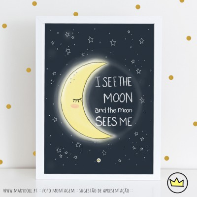 .i see the moon. poster