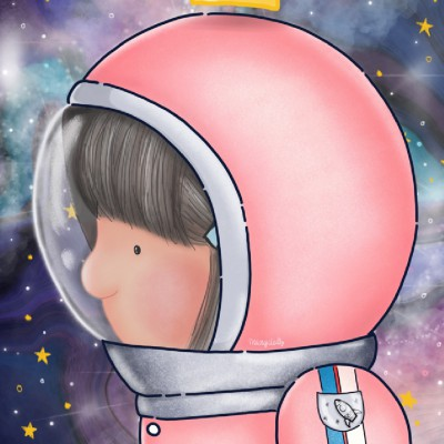 .Space girl. poster