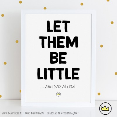 .let them be little. poster