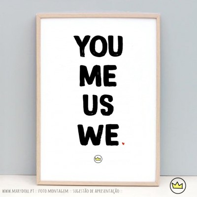 .you me us we. poster