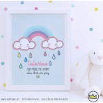 .happy rain rainbow. poster