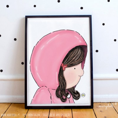 .little girl in pink. poster