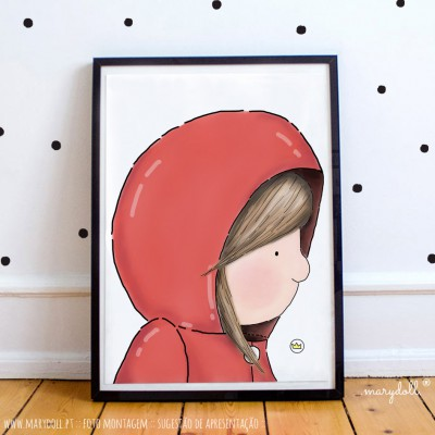 .little girl in red. poster