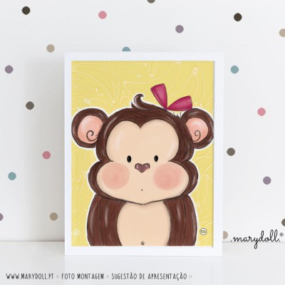 .little monkey. poster