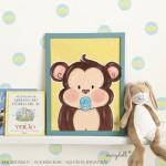 .little baby monkey. poster