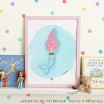 .pink mermaid. poster