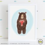 .cuddle bear. poster