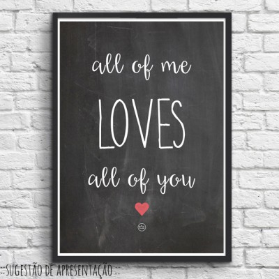 .all of me. black poster