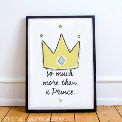 .more than a prince. poster