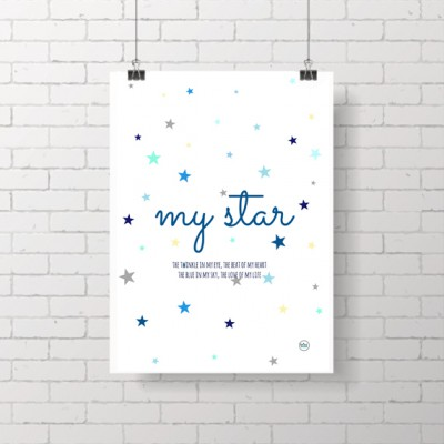 .my star blue. poster
