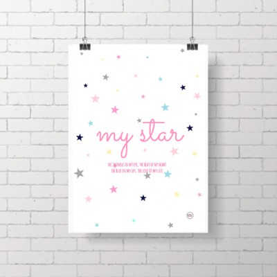 .my star pink. poster
