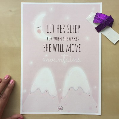 .let her sleep. poster