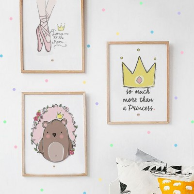 .little king bear pink. poster