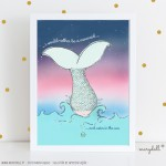 .i rether be a mermaid. poster