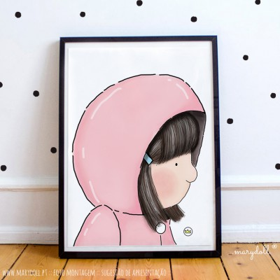 .little girl in dust pink. poster