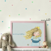 .little princess. blue poster