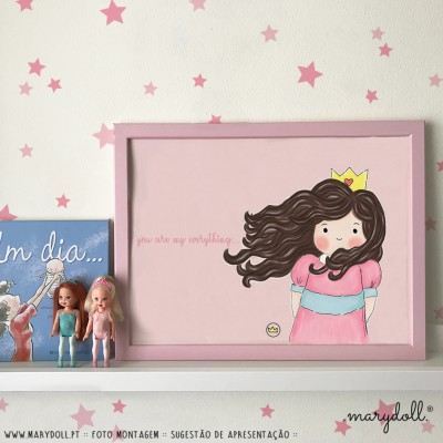 .little princess. pink poster