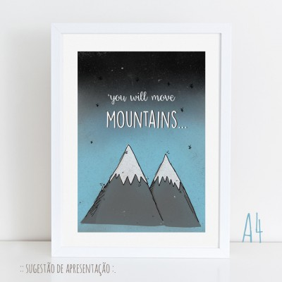 .you will move mountains. poster