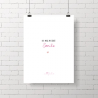 .my heart smile. poster