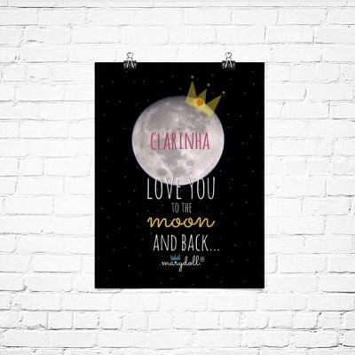 .love you to the moon. poster