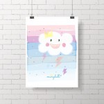 .rainbow cloud. poster