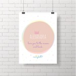 .pale pink moon. poster