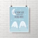 .let him sleep. poster