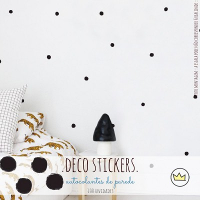 .dots, dots & dots black. stickers