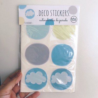 .clouds blue. stickers