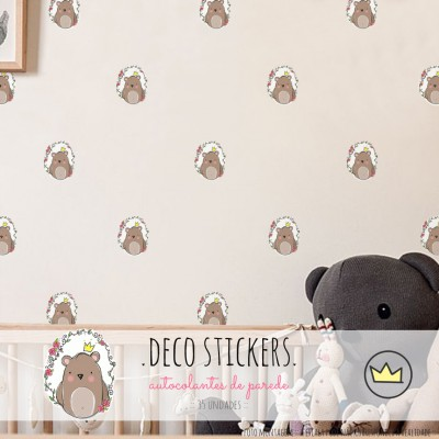 .little king bear. stickers