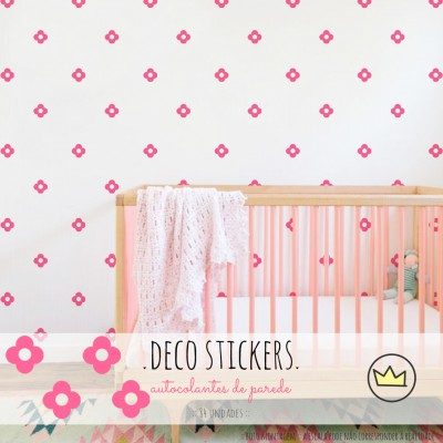 .little flowers. pink stickers