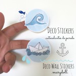 .paper boat. stickers