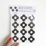.little flowers. black  stickers