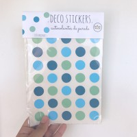 .blue blue green dots. stickers