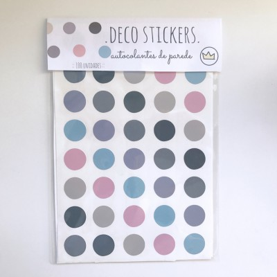 .classic girl dots. stickers