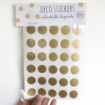 .gold dots. stickers