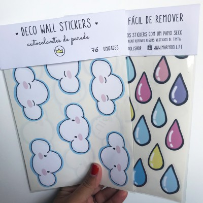 .happy rain. stickers