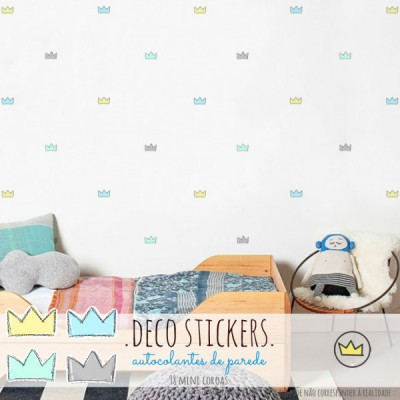 .mini crowns blue. stickers