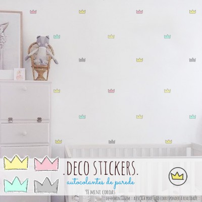 .mini crowns pink. stickers