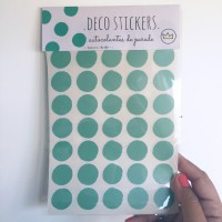 .dots, dots & dots mint. stickers