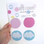 .clouds pink. stickers