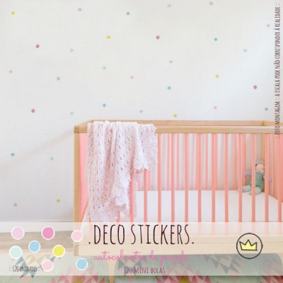 .rainbow dots mini. stickers