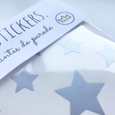 .silver stars. stickers