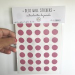 .dots, dots & dots strawberry pink. stickers